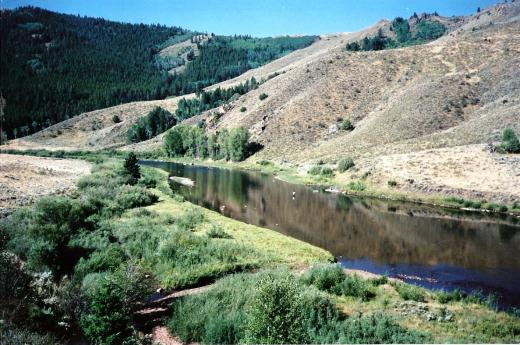The North Platte near where we met Kyle and Jim over 20 years ago.